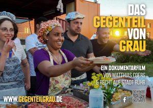 Matthias Coers DAS GEGENTEIL VON GRAU Refugees Kitchen kitev Sticker zweischritte.berlin coersvideo